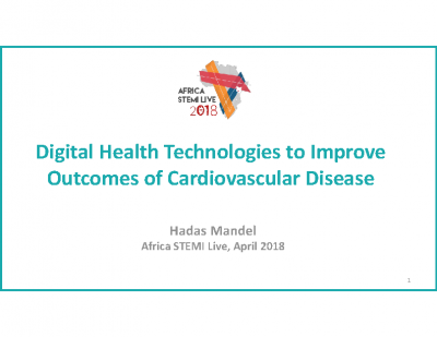 Digital health technology to improve CVD – Dr. Hadas Mendel